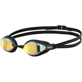 arena Airspeed Mirror Okulary pływackie, yellow copper/black